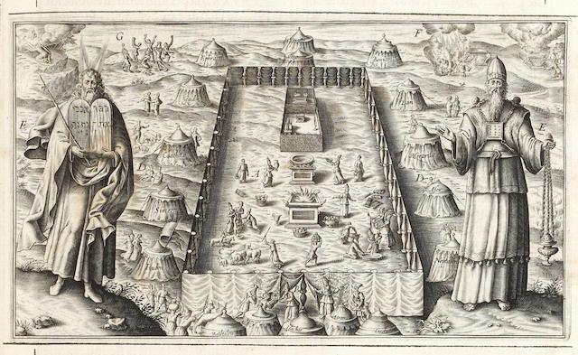 BIBLE, in French, Geneva Version La Saincte Bible Françoise, 2 vol. in one, 1621