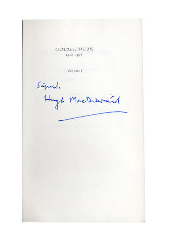 MACDIARMID (HUGH) Complete Poems 1920-1976, 2 vol., SIGNED BY THE AUTHOR, 1978