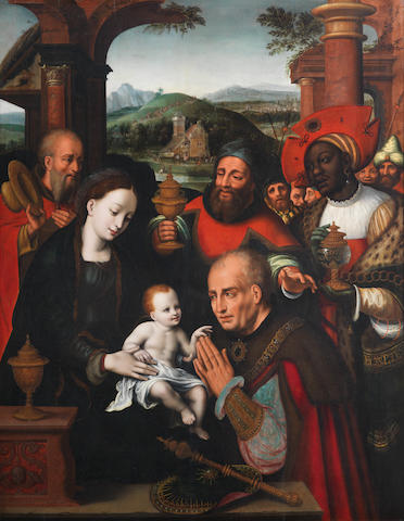 Studio of Cornelis van Cleve (Antwerp 1520-1569) The Adoration of the Magi