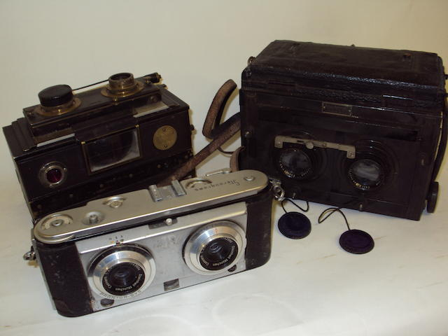 Three stereoscopic cameras
