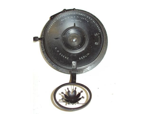 A Goerz Hypergon wide angle lens