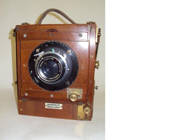 A Gandolfi Quarter Plate camera