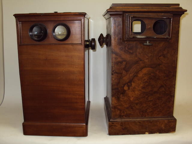 Two table-top stereoscopes