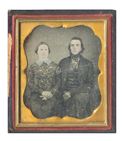 DAGUERREOTYPES A group of 14 portraits, predominantly featuring male sitters, prediminantly quarter and sixth plate size, most in leather cases, 1850s and later; and 9 others (23)