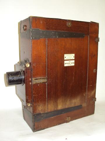 A Prestwich 35mm Cinematograph camera