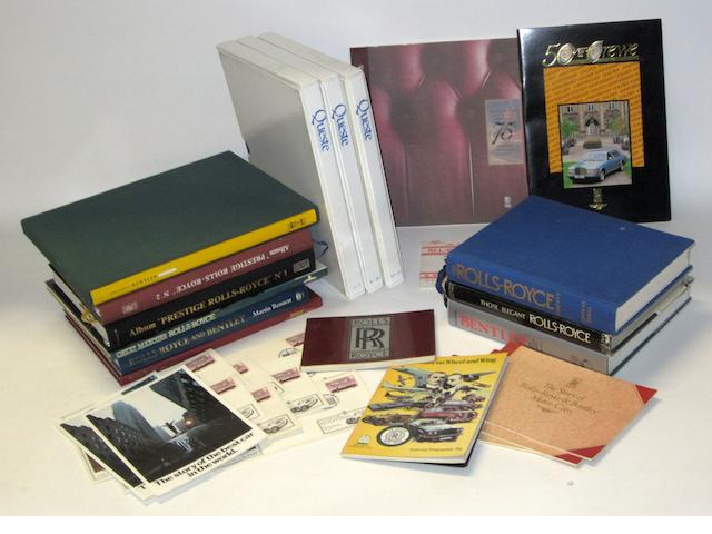 Assorted RR and Bentley refernce books and periodicals