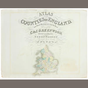 GREENWOOD (CHARLES and JOHN) Atlas of the Counties of England, from Actual Surveys Made from the Years 1817 to 1834, 1834
