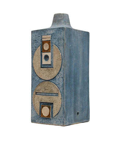 A Troika rectangular form lamp base, by Penny Black Circa 1965-73