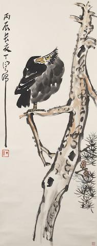 Ding Yanyong (1902-1978)  Eagle on Pine