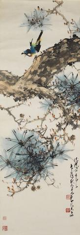 Zhao Shao'ang (1905-1998) Bird on Pine