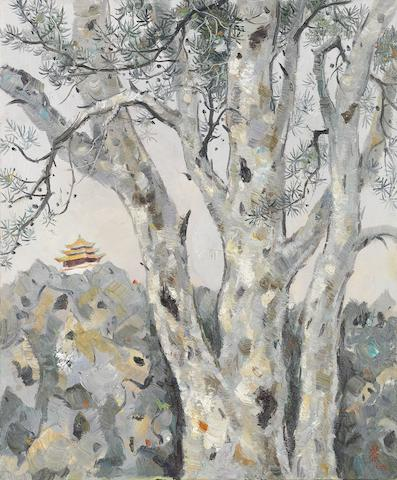 Wu Guanzhong (1919-2010) Lacebark Pine in the Beijing Imperial Palace
