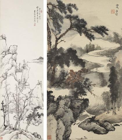 Li Yanshan (1898-1961) Two Landscapes