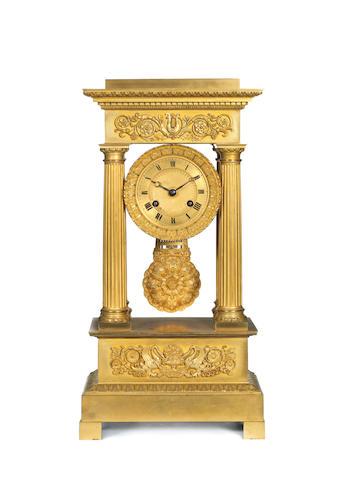 An ormolou portico clock, Palais Royale