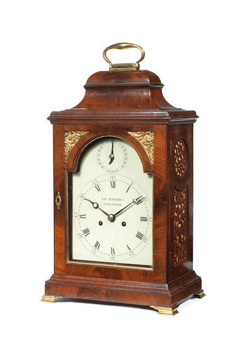 A S/S mantle clock, by E. Jeffries, Chatham