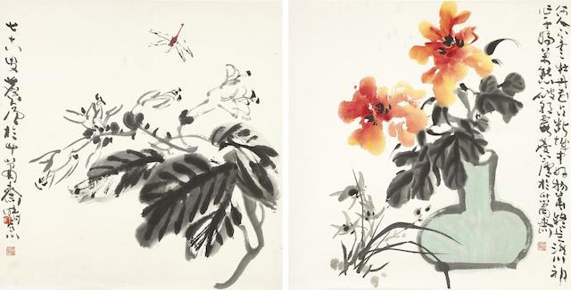 Xu Linlu (1916-2011) Flowers