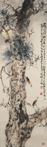 Zhao Shao'ang (1905-1998) and Yang Shanshen (1913-2004) Cicadas on Pine