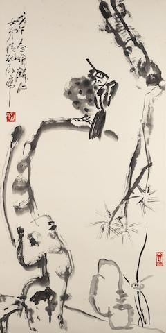 Ding Yanyong (1902-1978) Hawk on Pine
