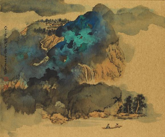 Zhang Daqian (1899-1983) Dissipating Mist over Blue and Green Mountain