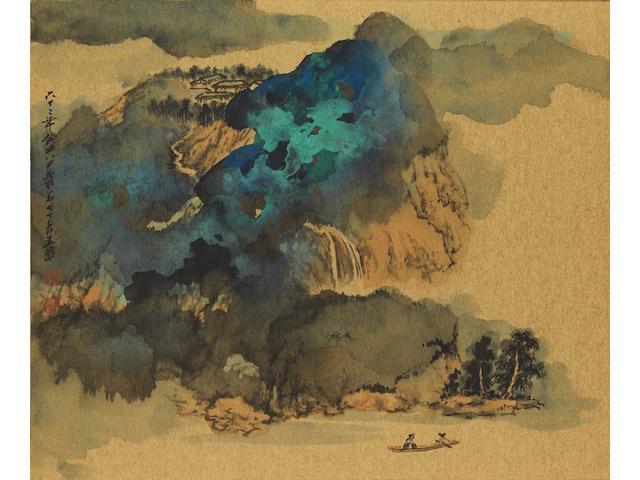 Zhang Daqian (1899-1983) Dissipating Mist over Blue and Green Mountain