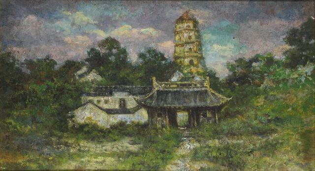 Yan Wenliang (1893-1990) Tiger Hill Pagoda