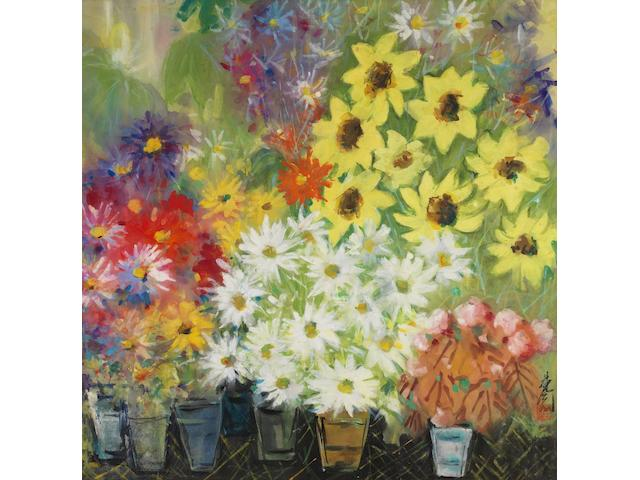 Lin Fengmian (1900-1991) Blooming Chrysanthemums