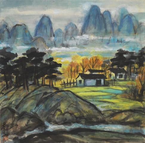 Lin Fengmian (1900-1991) Autumn Valley