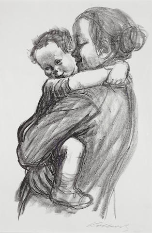 Käthe Kollwitz (German, 1867-1945) Mother with Boy Lithograph, 1931, on white wove, signed lower right in pencil, from the  edition of 100 (there was also an edition of 100 on yellow wove), 360 x 210mm (14 1/8 x 8 1/4in)(I)