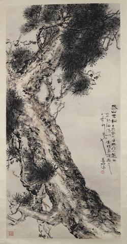 Yang Shanshen (1913-2004) Old Pine in Mount Tai