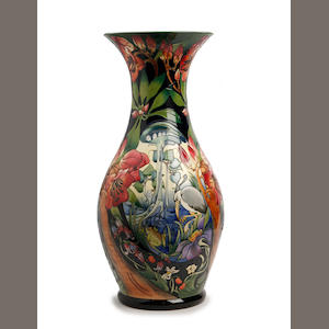 A very large Moorcroft 'Hidden Dreams' pattern limited edition vase, designed by Emma Bossoms Dated 2005