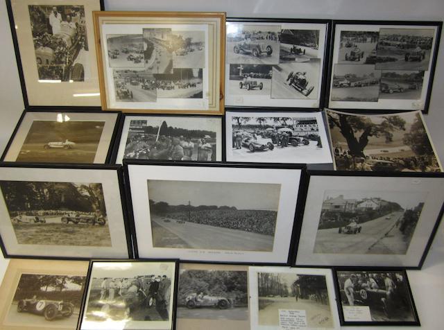 Assorted pre-War motor racing photographs,