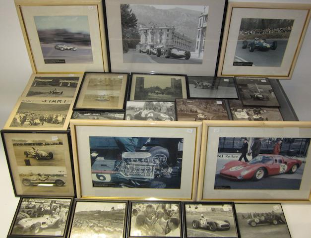 Assorted post-War motor racing photographs,