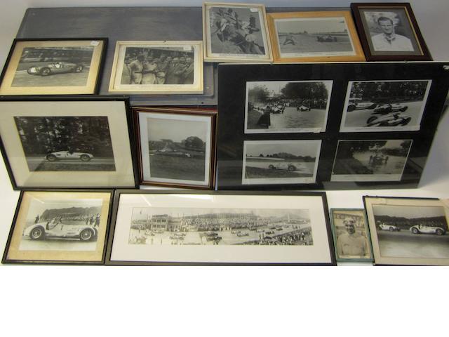 Assorted 'Silver Arrows' motor racing photographs