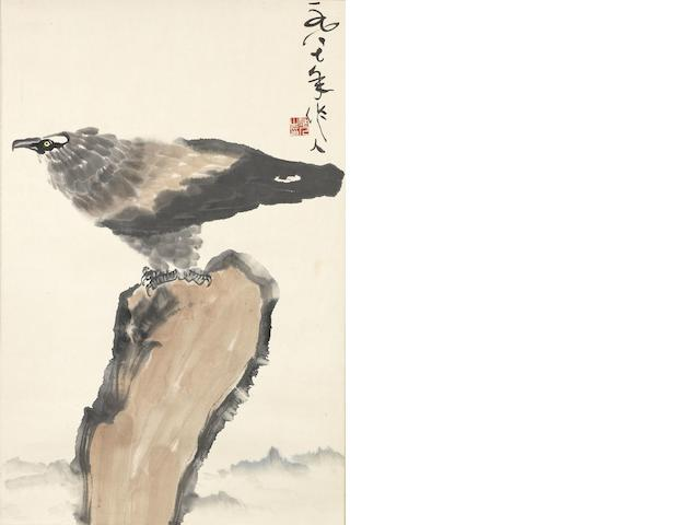 Wu Zuoren (1908-1997)  Eagle on Rock