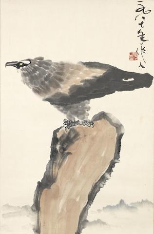 Wu Zuoren (1908-1997)  Eagle on Rock