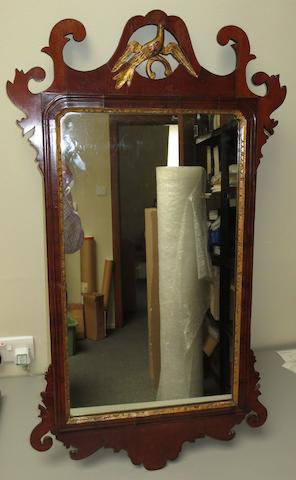 A 19th century mahogany framed fretwork wall mirror