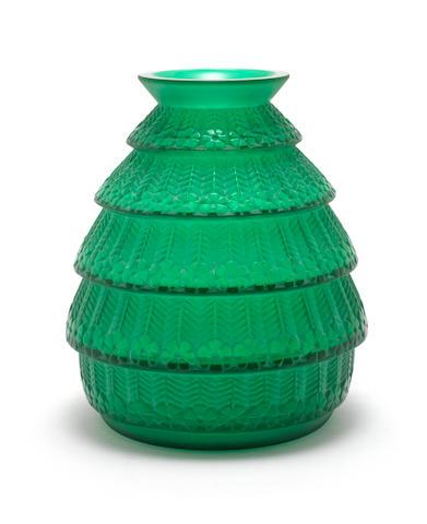 René Lalique 'Ferrières' a Vase, design 1929
