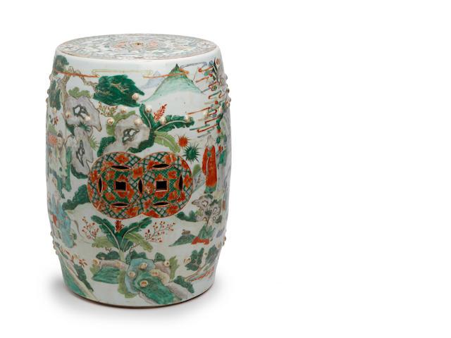 A Chinese famille verte garden seat 19th Century