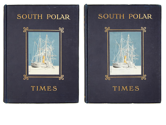 SOUTH POLAR TIMES SHACKLETON (ERNEST HENRY), LOUIS C. BERNACCHI and APSLEY CHERRY-GARRARD, editors. South Polar Times, 2 vol. only, PRESENTATION COPY, Smith, Elder & Co., 1907