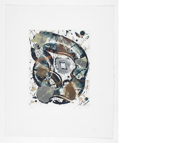 Sam Francis (American, 1923-1994) Untitled Aquatint printed in colours, 1985, on wove, signed and numbered 10/25 in pencil, with margins, 250 x 200mm (9 7/8 x 7 7/8in)(PL)