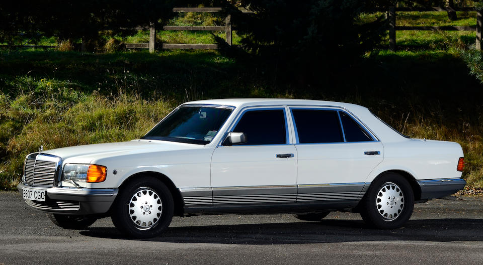 One owner from new,1985 Mercedes-Benz 500SEL Armoured Saloon  Chassis no. 126037-12-030052 Engine no. 117963-12-020288