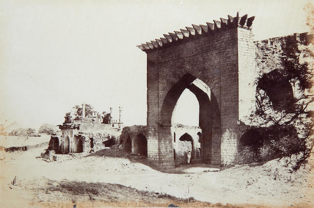 BIGGS (T.) Gateway for the Nukar Khana of Nawab Mustafa Khans palace