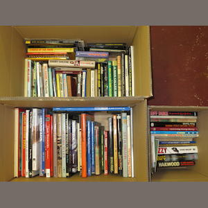 A quantity of assorted motorcycle books and literature,