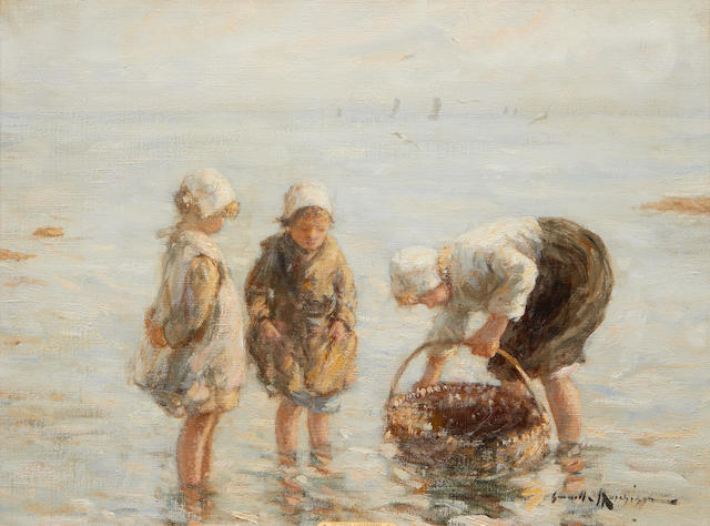Robert Gemmell Hutchison (Scottish, 1855-1936) Mussell Gathering