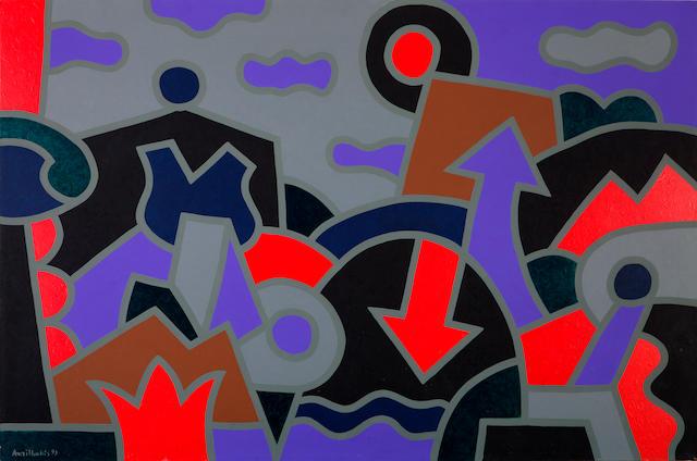 Alexis Akrithakis (Greek, 1939-1994) Untitled 1991 81.5 x 122 cm.