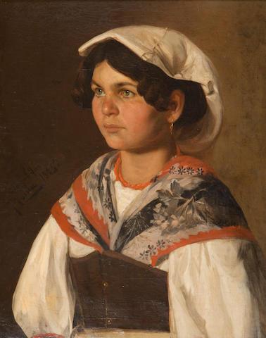 Dimitrios  Georgantas (1851/5-1933) Contantina 60 x 48 cm.