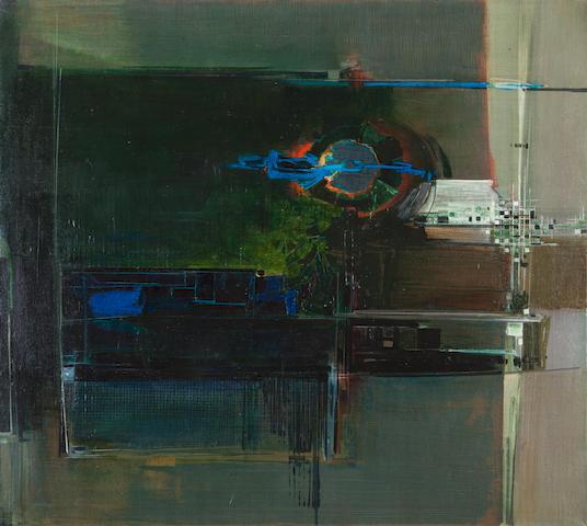 Alecos Condopoulos (Greek, 1905-1975) Au delà du paysage 100.5 x 110 cm.