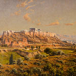 Leon Joubert (French, 1871-1920) View of the Acropolis and the Herodium 66 x 96 cm.
