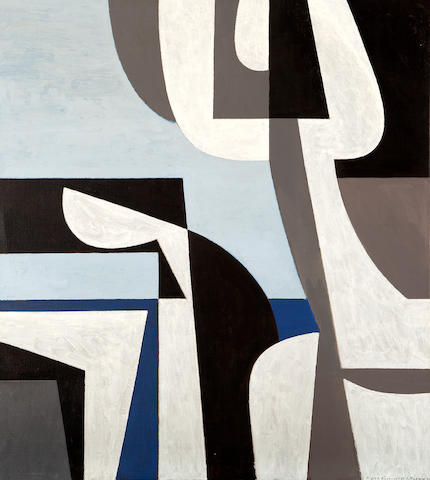 Yiannis Moralis (Greek, 1916-2009) Figurehead 100 x 89 cm.