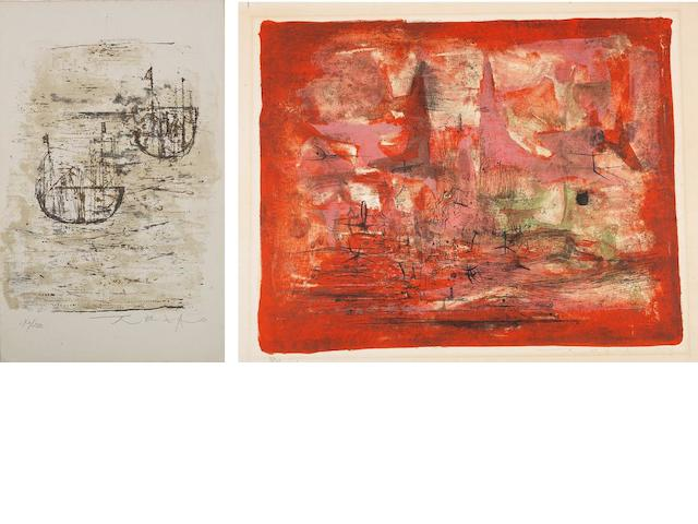 Zao Wou-Ki (Zhao Wuji, b.1921) Two Lithographs
