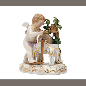 A Meissen figure of cupid Late 19th Century/early 20th Century